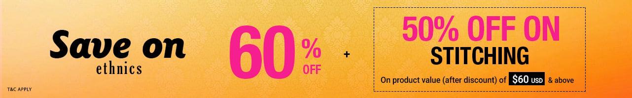 60% Off + Half price customization