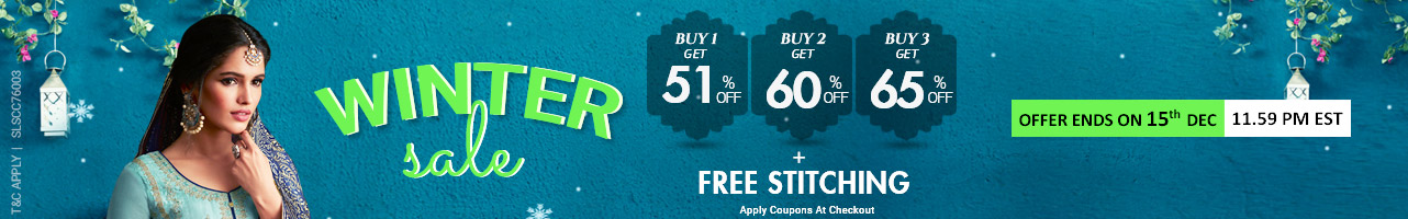 Buy 3 Get 65% + Free Stitching