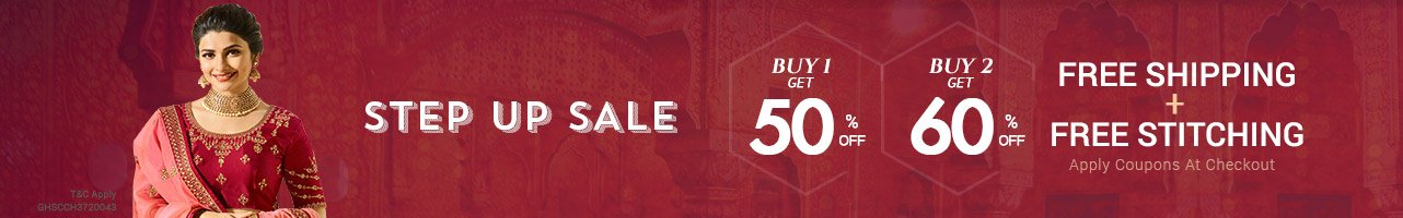 Stepup Sale Buy 2 Get Flat 60% Off