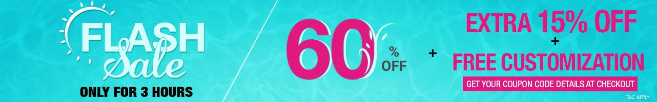 60% Off + Free Customization