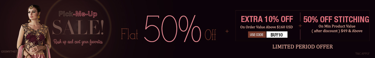 Flat 50% Off + Extra 10% Off + 50% Off on Customization