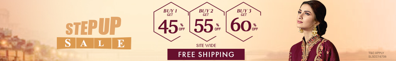 Buy 1 Get 45%, Buy 2 Get 55%, Buy 3 Get 60% + Free Shipping