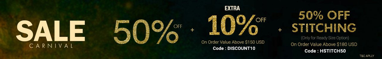 50% Off + Extra 10 %+50% Off on Stitching
