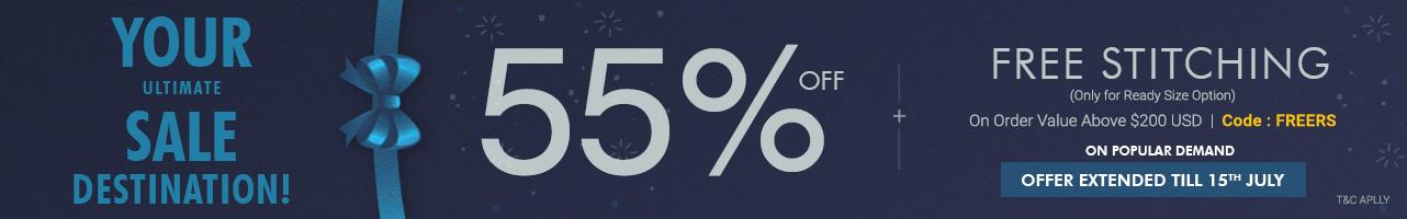 55% Off +Free Stitching