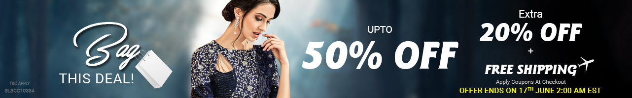 Upto 50% off + Extra 20% off + Free shipping