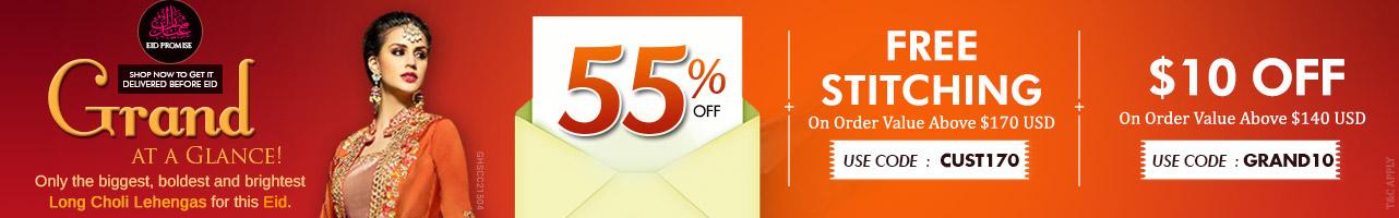 55% Off + 10$ Off + Free Customization