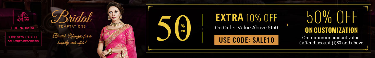 50% Off + Extra 10% Off + 50% Off on Customization