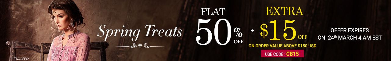 Flat 50% Off +Extra $15 Off