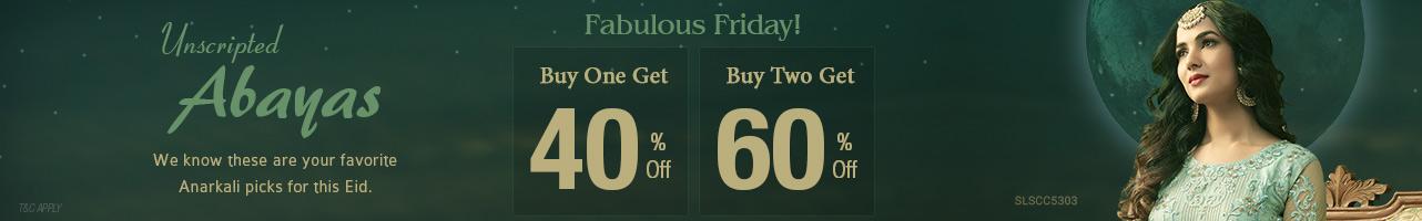 Buy 1 get 40% Off Buy 2 get 60% Off