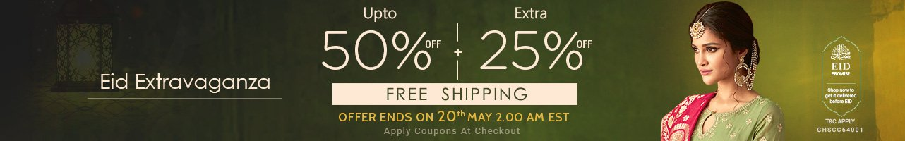 Upto 50% off + + Extra 25% off + Free Shipping