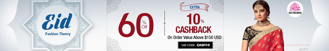 60% OFF + Extra 10% Cashback
