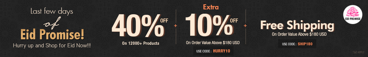 40% Off + Extra 10% Off + Free Shipping
