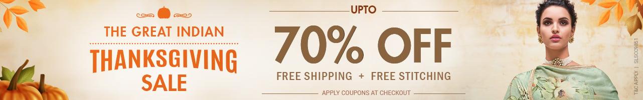 Upto 70%Off+ Free Shipping+Free Stitching