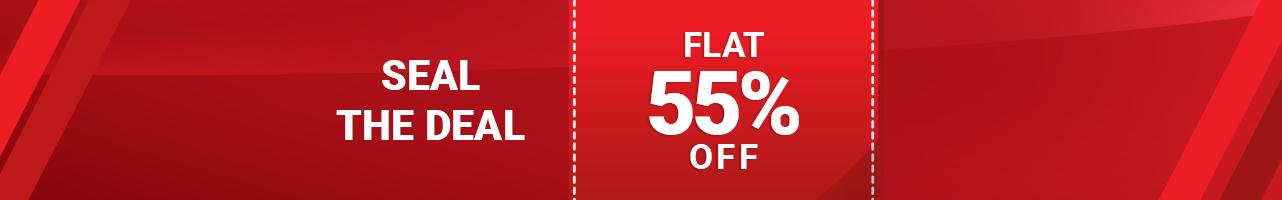 Flat 55%OFF