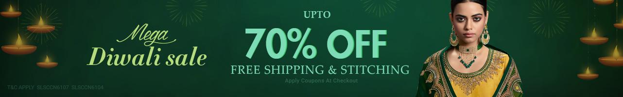 Upto 70%OFF+ Free shipping & stitching
