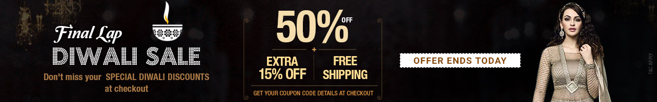 50% off + extra 15% off + free shipping