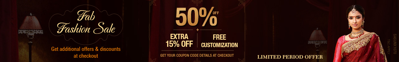 50% Off + extra 15% off + free customization