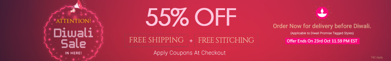55% Off +  Free Stitching + Free Shipping
