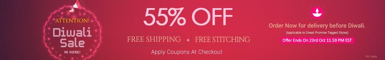 55% Off +  Free Stitching + Free Shipping