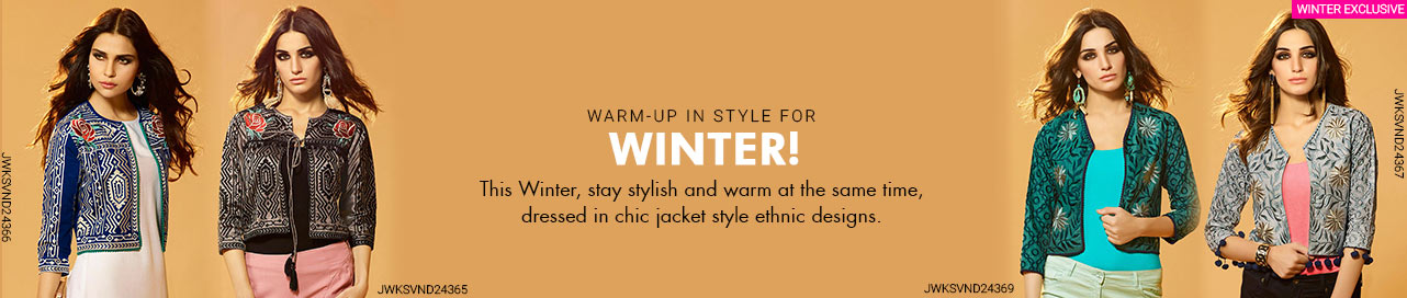 Womens Jackets -Warm up your winter with ethnic Jackets