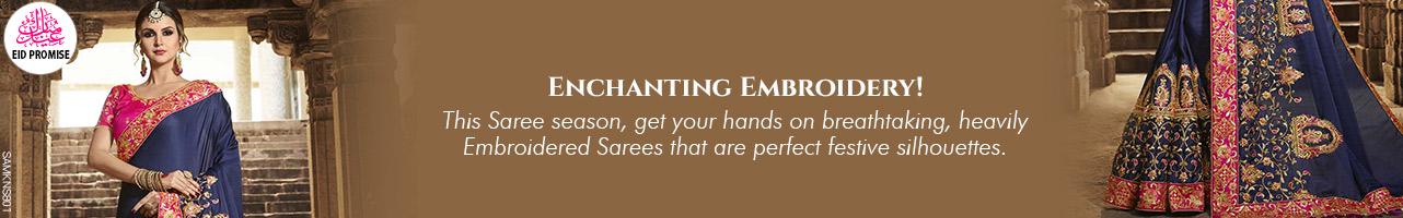 Highly Emblished Saris