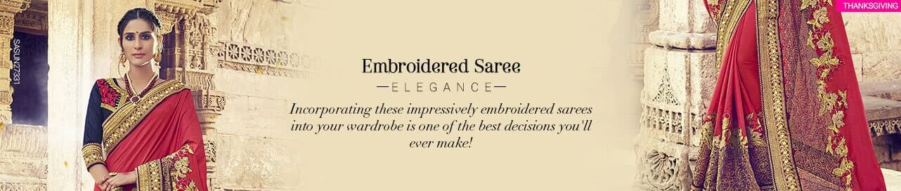 Embroiderd Sarees