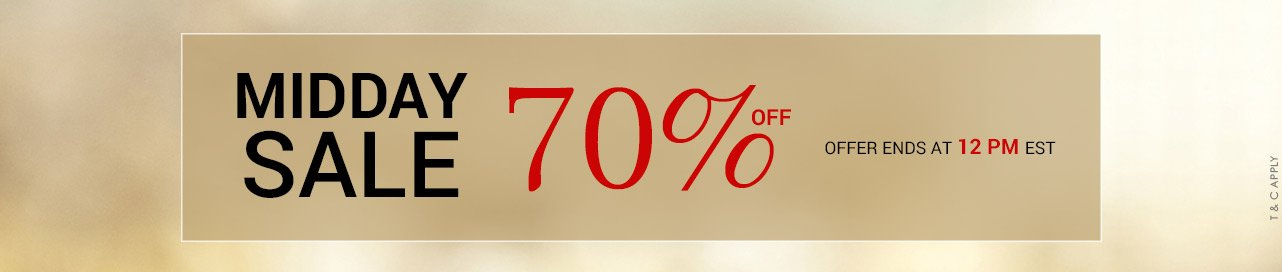 Flash Sale 70% Off